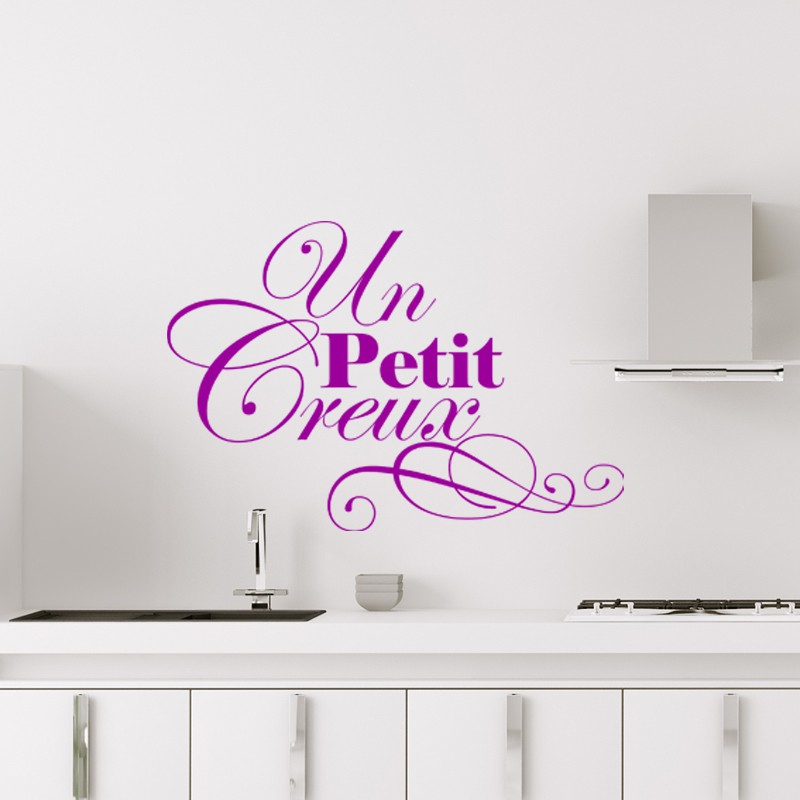 sticker cuisine un petit creux pas cher stickers citations discount stickers muraux madeco. Black Bedroom Furniture Sets. Home Design Ideas