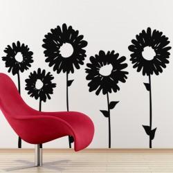 Sticker fleur Tournesols alignés