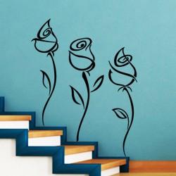 Sticker fleur Trio de roses