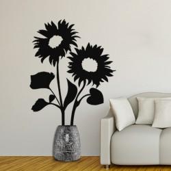Sticker fleur 2 tournesols