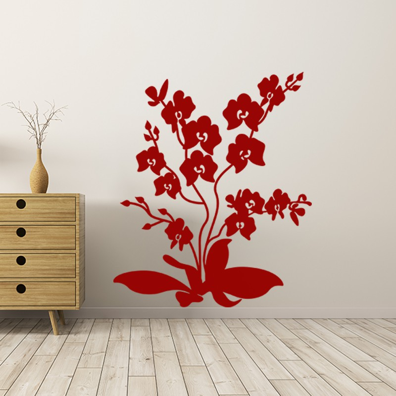 sticker fleur fleurs du printemps pas cher stickers nature discount stickers muraux madeco. Black Bedroom Furniture Sets. Home Design Ideas