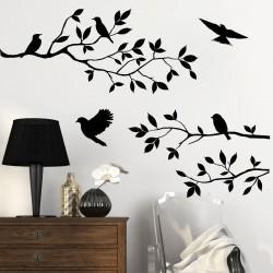 Sticker Branches d'arbre et les oiseaux