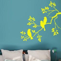 Sticker Silhouette oiseaux