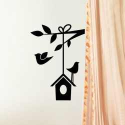 Sticker maison d'oiseau