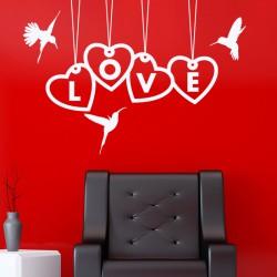 Sticker love et oiseaux