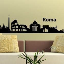 Sticker Rome skyline