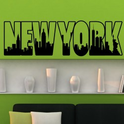 Sticker New York lettre cadre