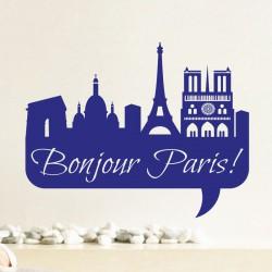 Sticker Bonjour Paris!