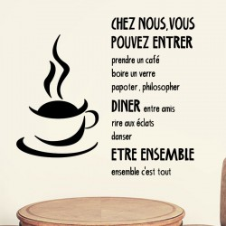 Sticker citation cuisine Chez nous