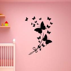Sticker Cadeau nuées de papillons