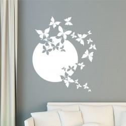 Sticker Lune et papillons
