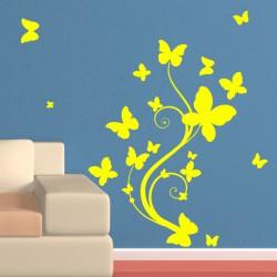 Sticker plante en papillons