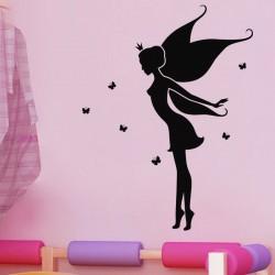 Sticker La reine des fées et papillons