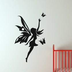Sticker Papillons et fée