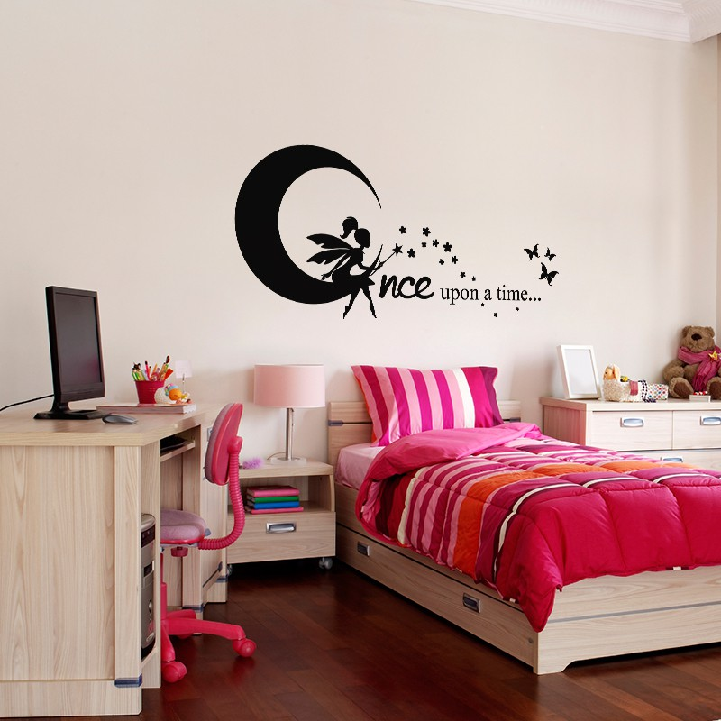 sticker once upon a time pas cher stickers enfants discount stickers muraux madeco. Black Bedroom Furniture Sets. Home Design Ideas
