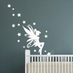 Sticker La fée amie des étoiles