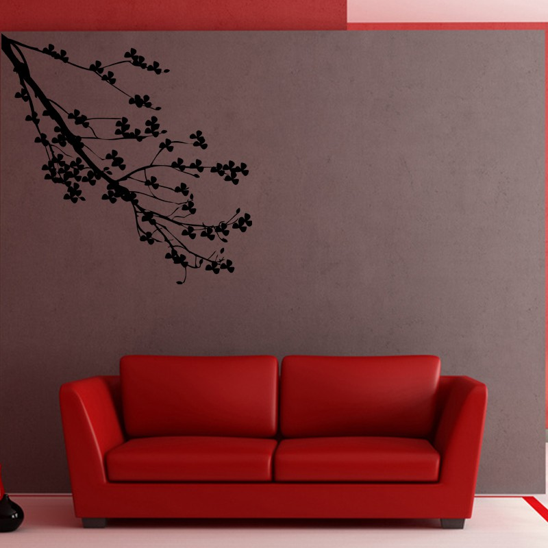 sticker branche d 39 arbre fleuri pas cher stickers nature discount stickers muraux madeco. Black Bedroom Furniture Sets. Home Design Ideas