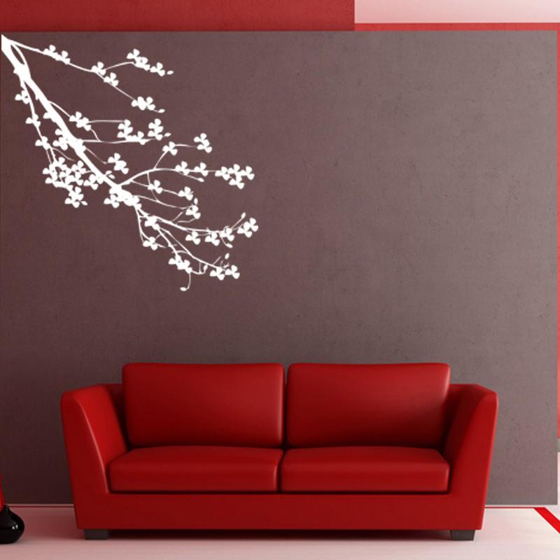 sticker branche d 39 arbre fleuri pas cher stickers nature discount stickers muraux madeco. Black Bedroom Furniture Sets. Home Design Ideas