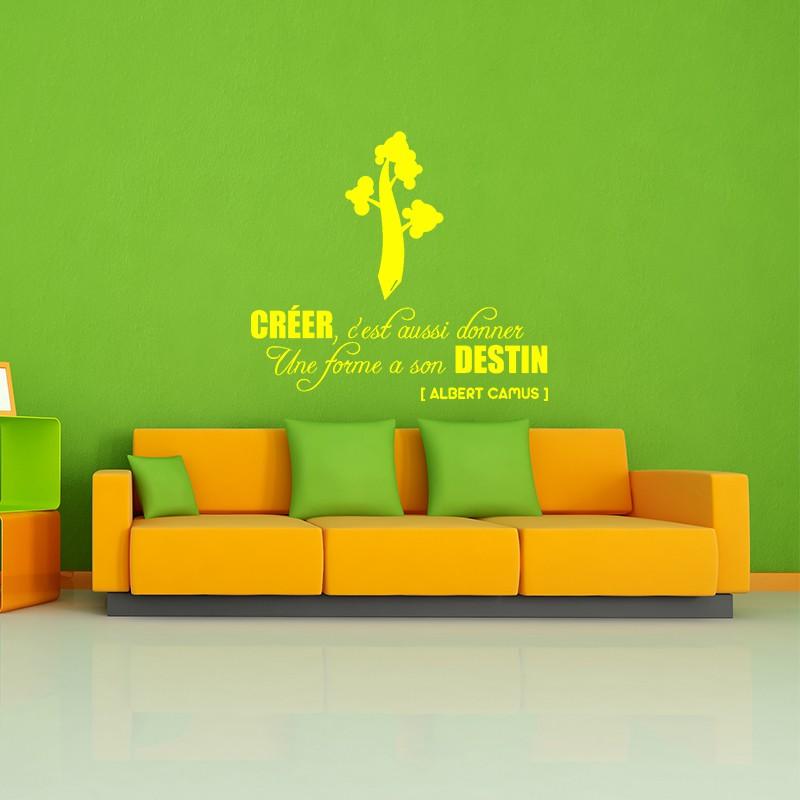 sticker cr er c 39 est aussi donner pas cher stickers citations discount stickers muraux. Black Bedroom Furniture Sets. Home Design Ideas
