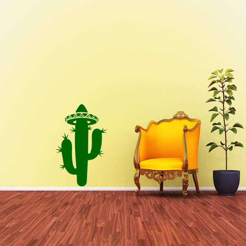 sticker cactus du d sert m xicain pas cher stickers nature discount stickers muraux madeco. Black Bedroom Furniture Sets. Home Design Ideas