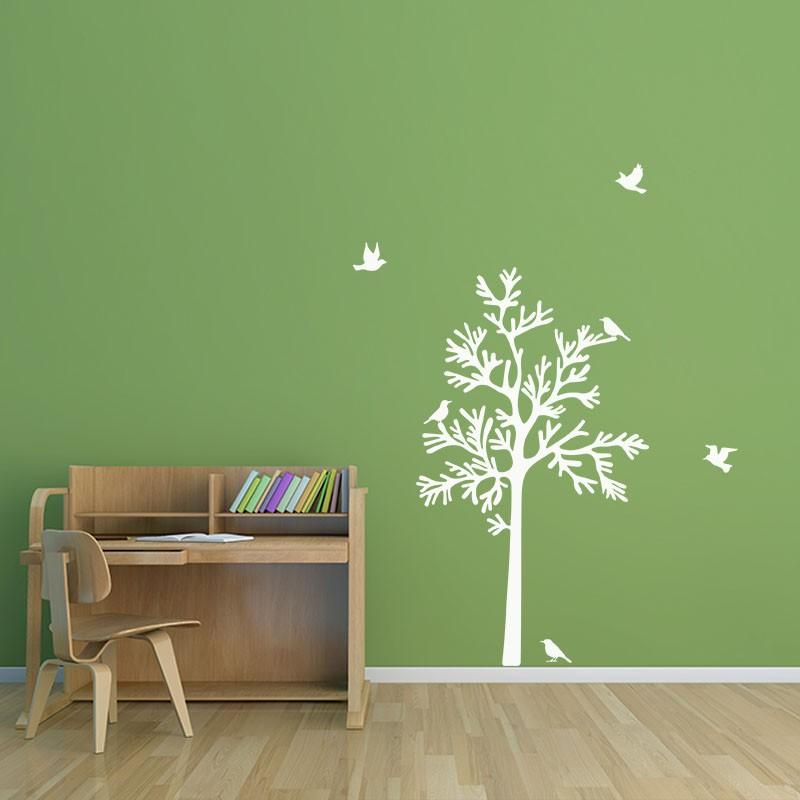 Sticker oiseaux autour d 39 un arbre pas cher stickers for Bordure autour d un arbre