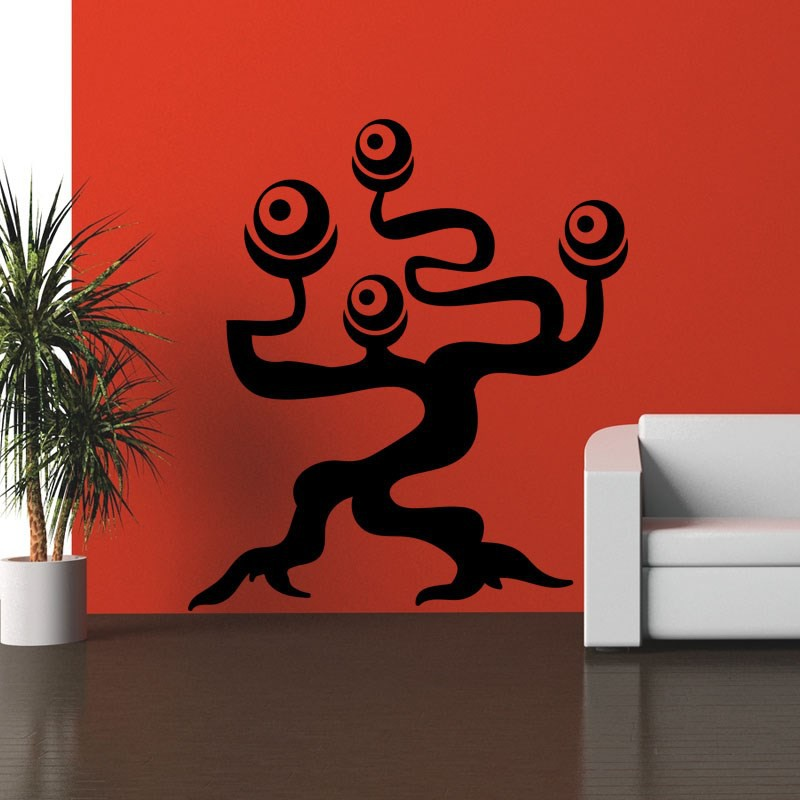 sticker arbre extraterrestre pas cher stickers nature discount stickers muraux madeco stickers. Black Bedroom Furniture Sets. Home Design Ideas