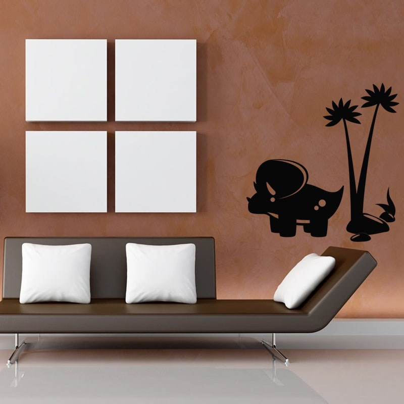 sticker dinosaure sous un arbre pas cher stickers nature discount stickers muraux madeco. Black Bedroom Furniture Sets. Home Design Ideas