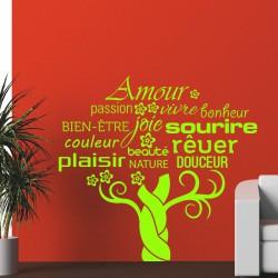 Sticker Amour, passion, vivre, bonheur