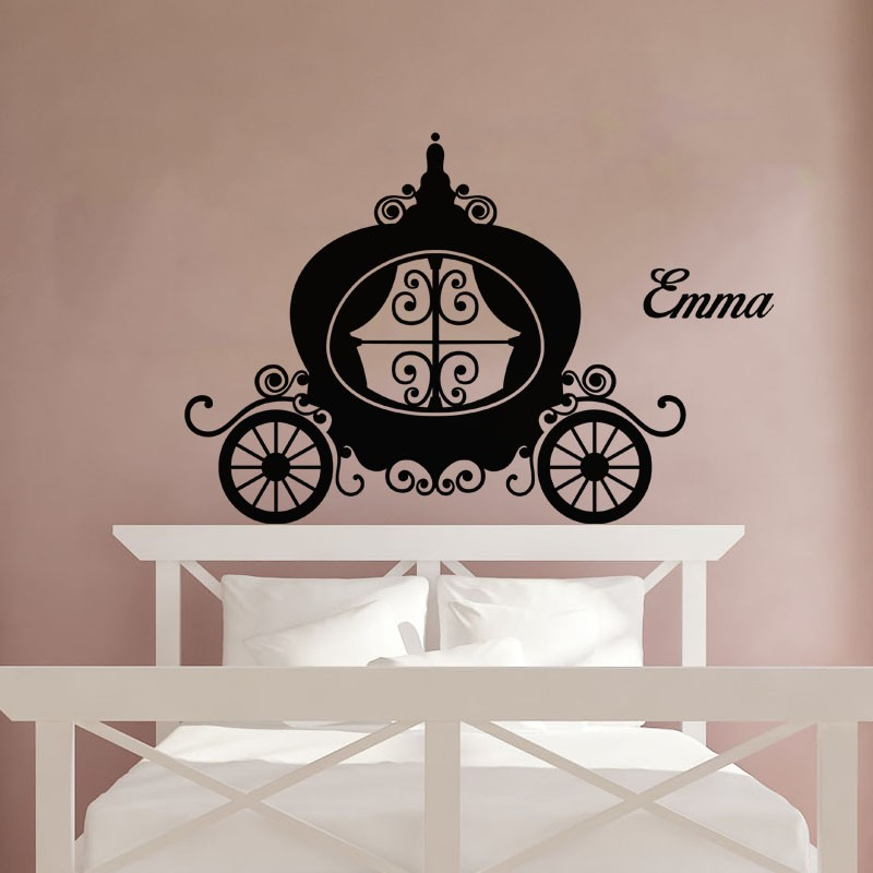 sticker pr nom personnalisable carrosse pas cher stickers enfants discount stickers muraux. Black Bedroom Furniture Sets. Home Design Ideas
