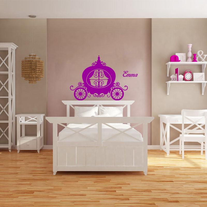 sticker pr nom personnalisable carrosse pas cher. Black Bedroom Furniture Sets. Home Design Ideas