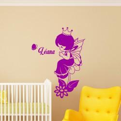 Sticker prénom personnalisable Princesse des fées