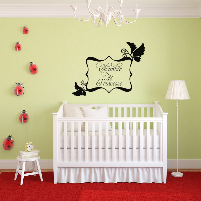 Sticker chambre de princesse pas cher stickers enfants discount stickers muraux madeco - Tickers chambre fille princesse ...