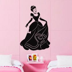 Sticker Silhouette Princesse élégante