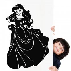 Sticker Princesse avec une longue robe
