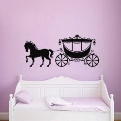 Sticker Défilé de cheval avec son carrosse