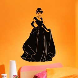 Sticker Silhouette princesse