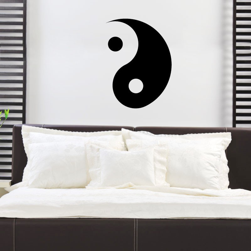Sticker Yin Yang pas cher  Stickers Nature discount  stickers muraux