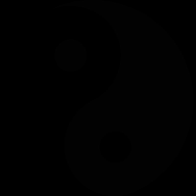 Chambre Pour Garcon Vert : Sticker Yin Yang pas cher  Stickers Nature discount  stickers muraux