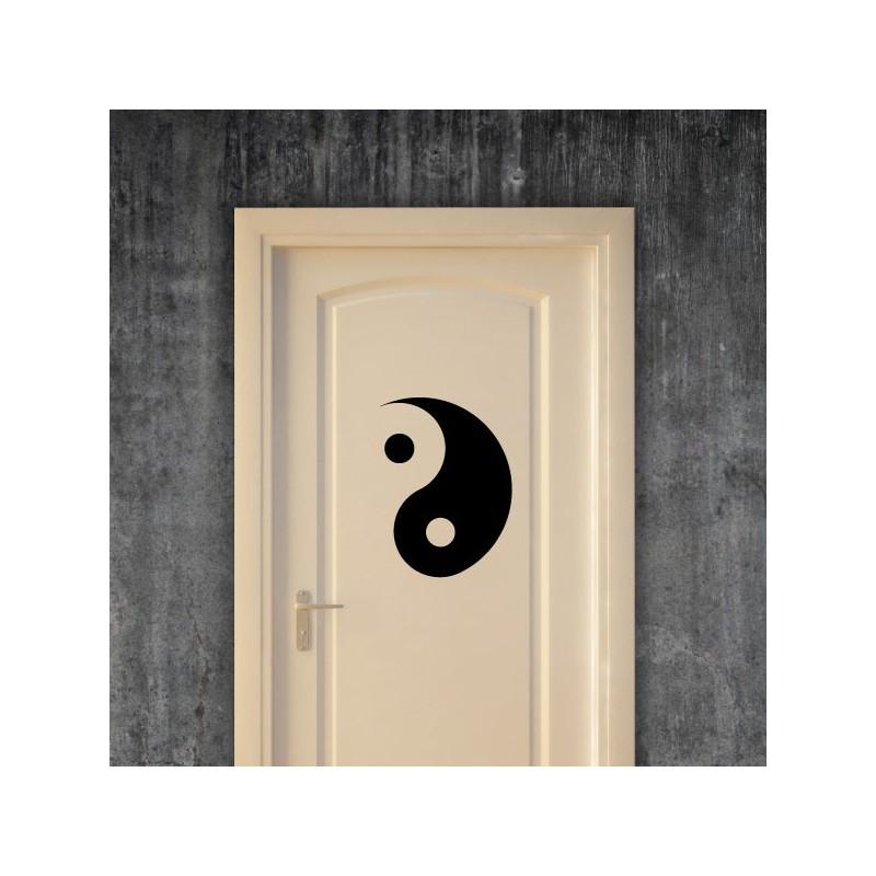 Sticker yin yang pas cher stickers nature discount for Chambre yin yang