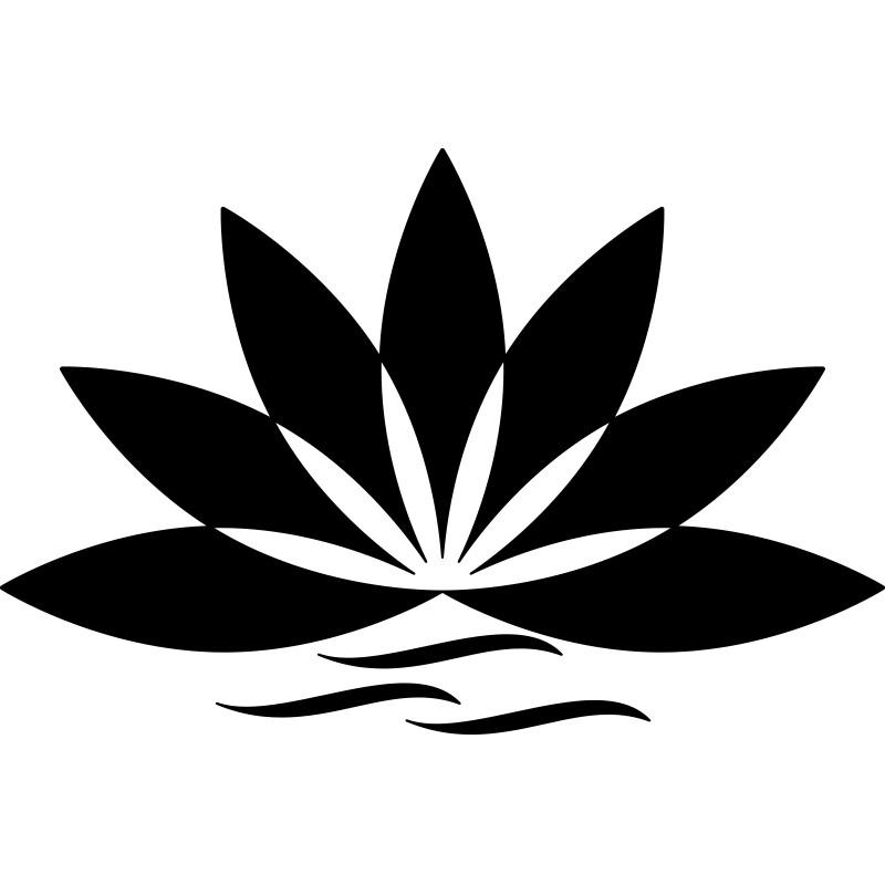 sticker salle de bain fleur de lotus pas cher stickers. Black Bedroom Furniture Sets. Home Design Ideas