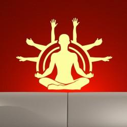 Sticker Homme faisant du yoga