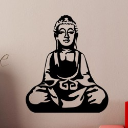Sticker Bouddha assis