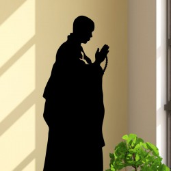 Sticker moine en prière