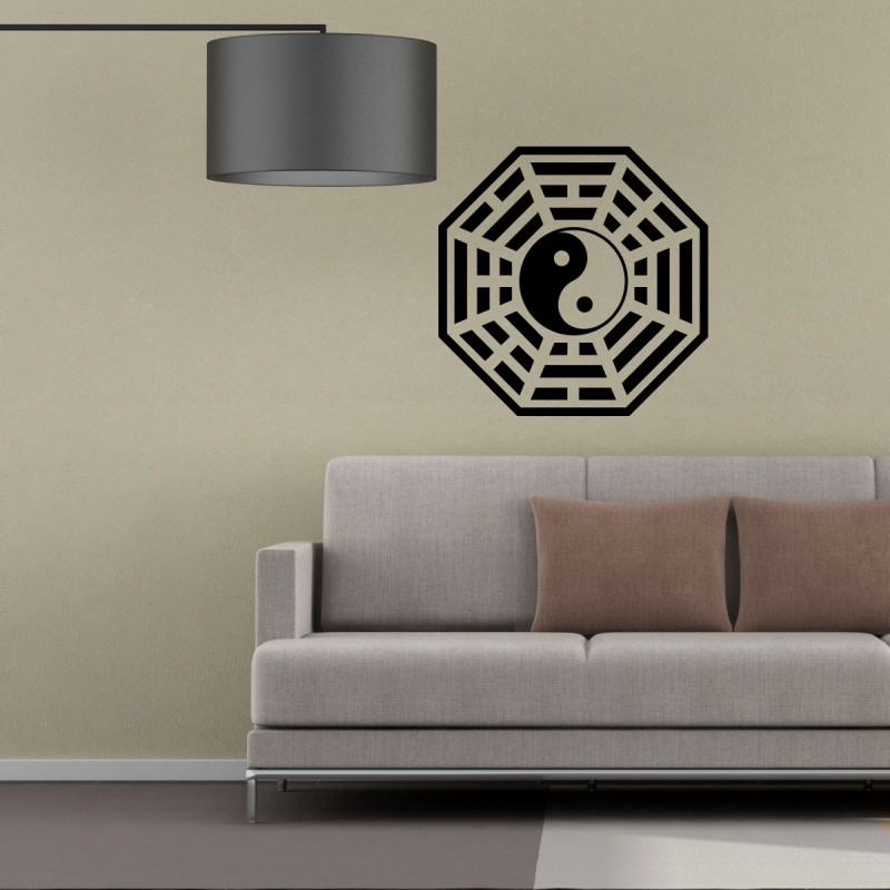 sticker symbole tao pas cher stickers nature discount stickers muraux madeco stickers. Black Bedroom Furniture Sets. Home Design Ideas