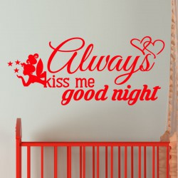 Sticker Always kiss me, good night
