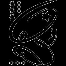 Sticker Arbre de Noël étoile