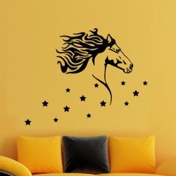 Sticker Cheval et étoiles