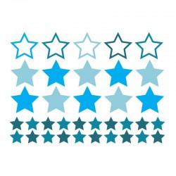 Sticker étoiles bleues