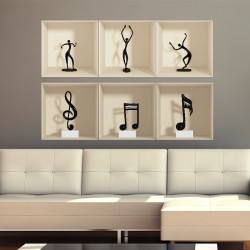 Sticker 3D Danse et la musique