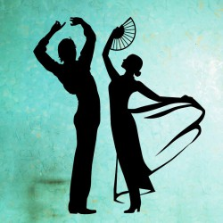 Sticker danseurs flamenco